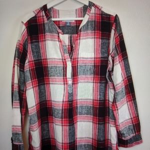 Old Navy Plaid Tunic Top XL
